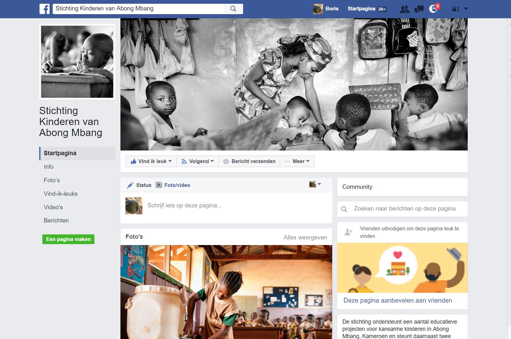 Facebook en Kinderen van Abong Mbang